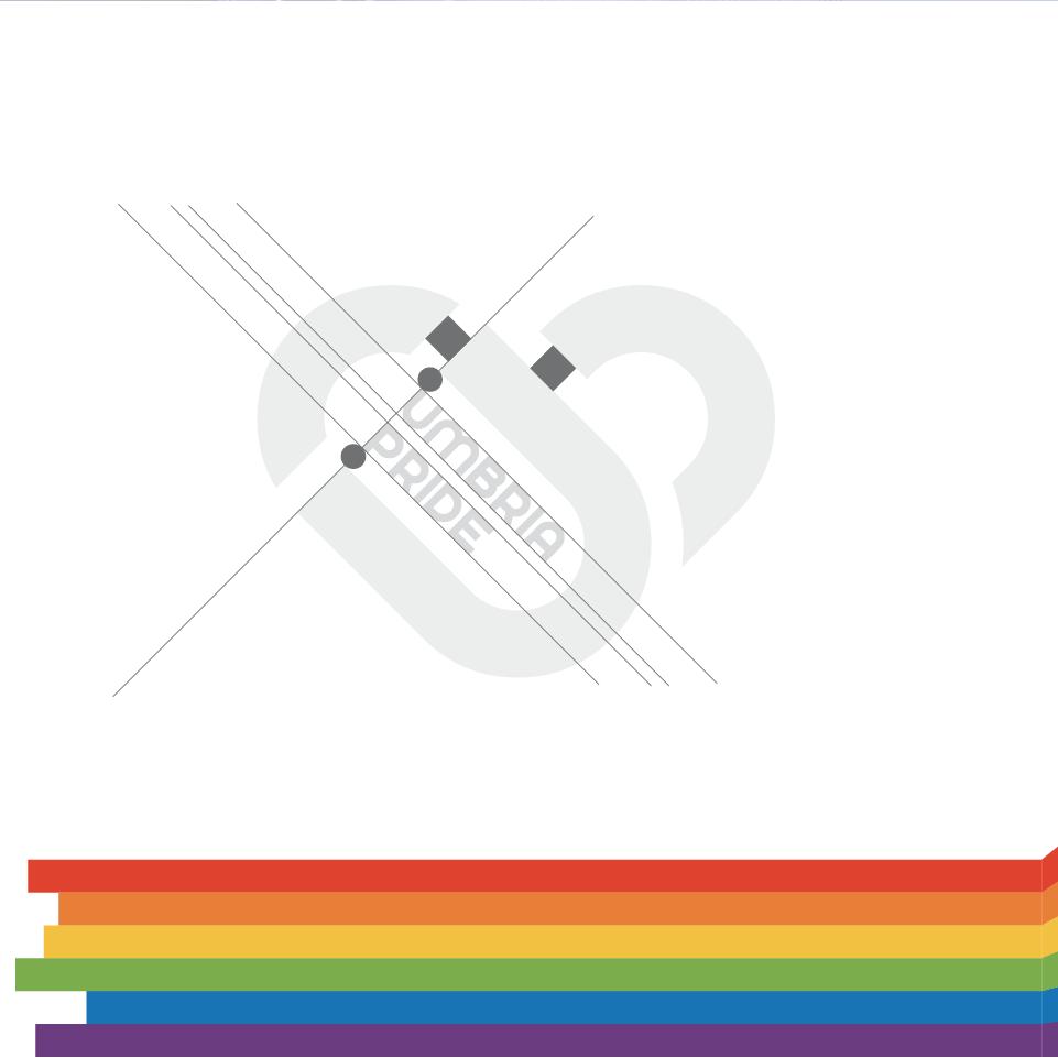 Umbria Pride costruzione logo - stilographico