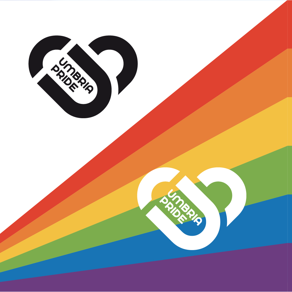 Umbria Pride versioni logo - stilographico