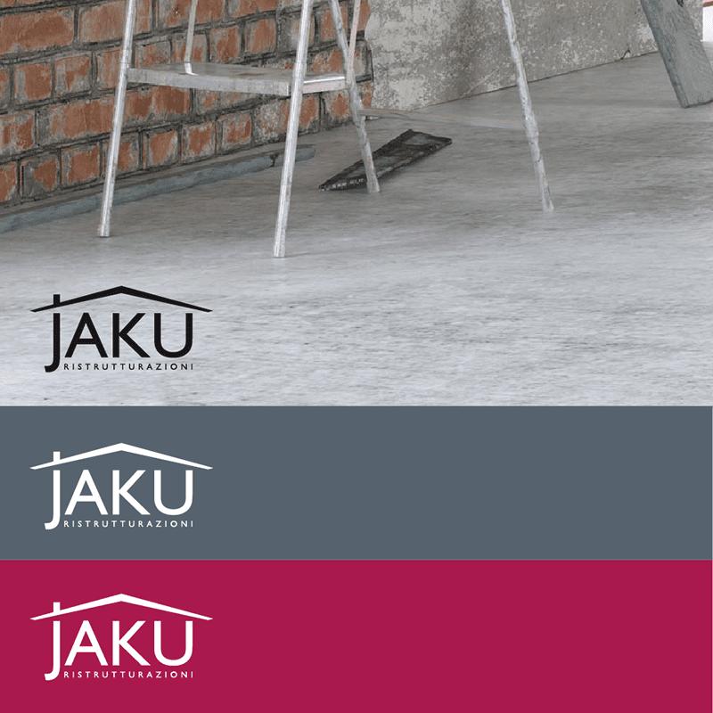 Jaku Ristrutturazioni varianti logo - stilographico