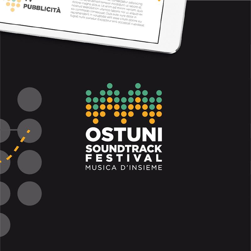 Ostuni Soundtrack Festival logo negativo - stilographico