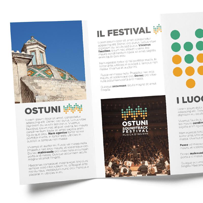 Ostuni Soundtrack Festival pieghevole - stilographico
