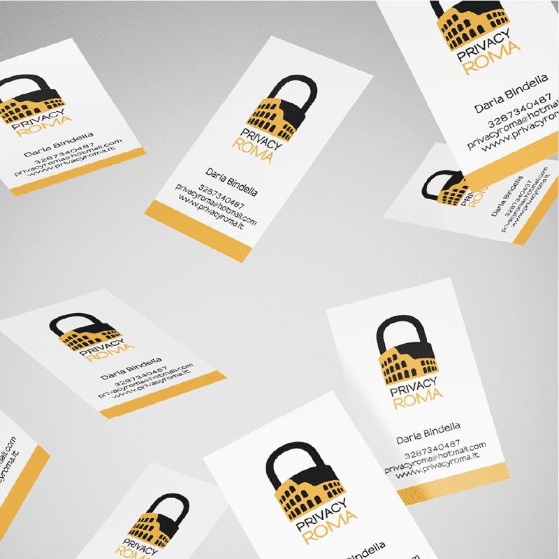 PrivacyRoma biglietto da visita - stilographico