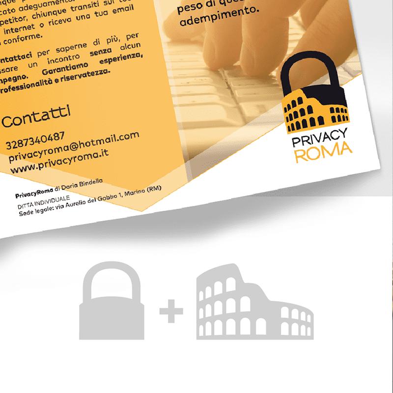 PrivacyRoma creazione logo - stilographico