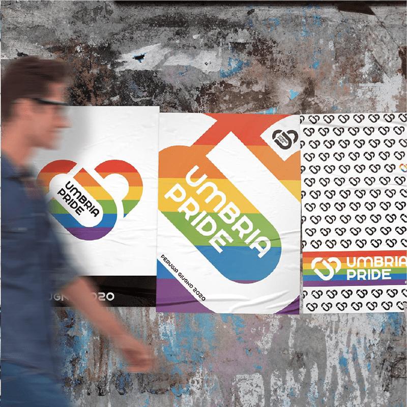 Umbria Pride poster - stilographico