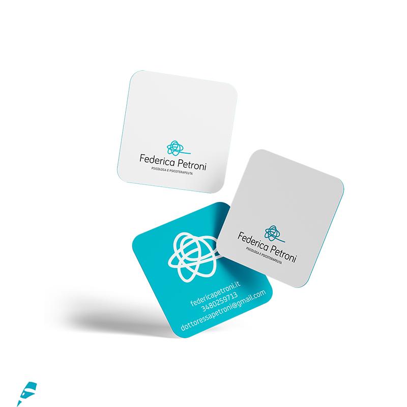 Federica Petroni biglietto da visita - stilographico