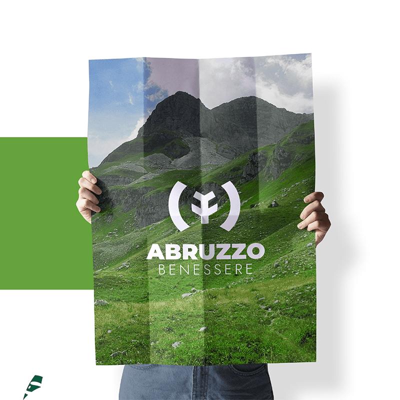 Abruzzo Benessere poster - stilographico