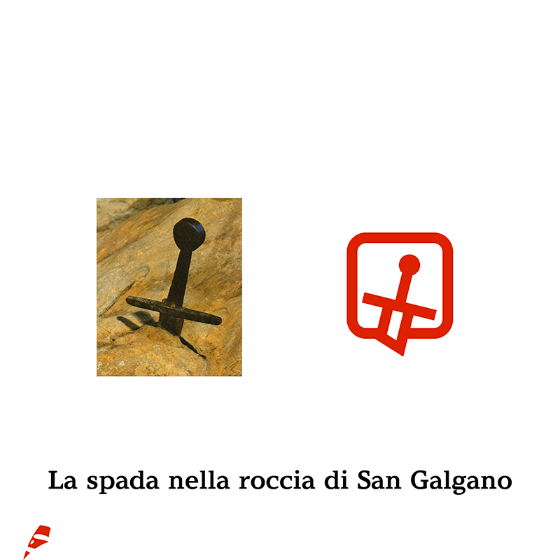 San Galgano pittogramma - stilographico